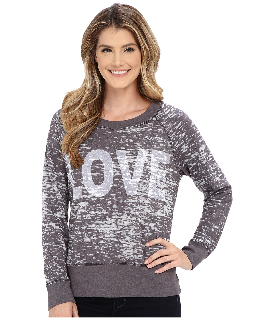 Allen Allen - Love Sweatshirt (Jet Grey) Women's Sweatshirt