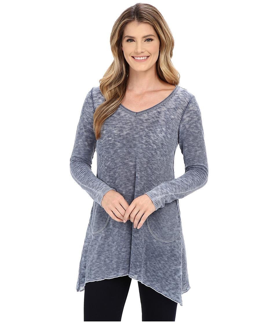 Allen Allen - Angled Tunic (Lapis) Women's Sweater
