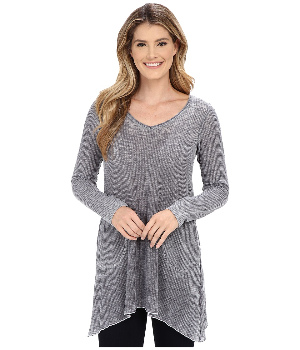 Allen Allen - Angled Tunic (Jet Grey) Women's Sweater