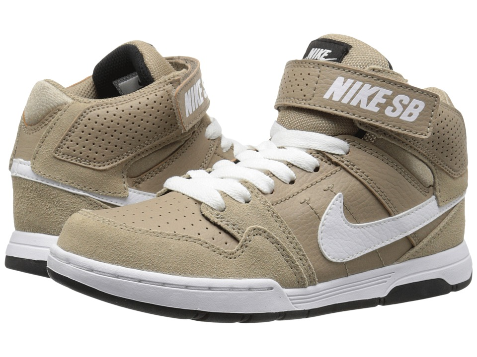 Nike SB Kids - Mogan Mid 2 Jr (Little Kid/Big Kid) (Khaki/White/Black/Pine Green) Boys Shoes
