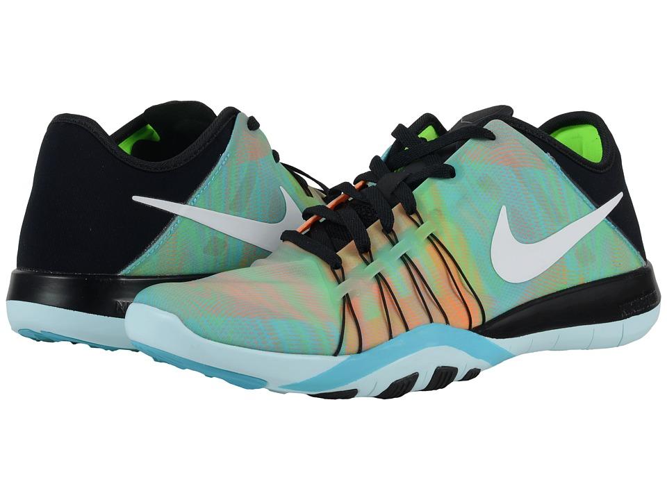 Nike - Free TR 6 PRT (Black/Gamma Blue/Glacier Blue/White) Women's Cross Training Shoes