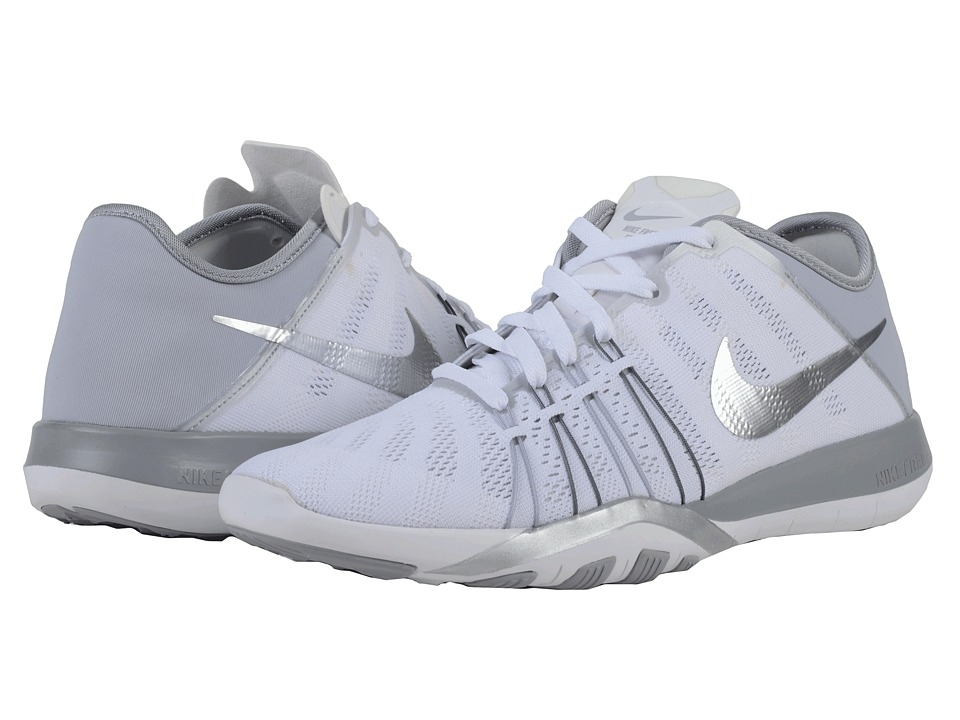 Nike - Free TR 6 (White/Wolf Grey/Metallic Silver) Women's Cross Training Shoes