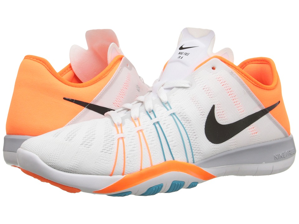 Nike Free TR 6 (White/Gamma Blue/Total Orange/Black) Women