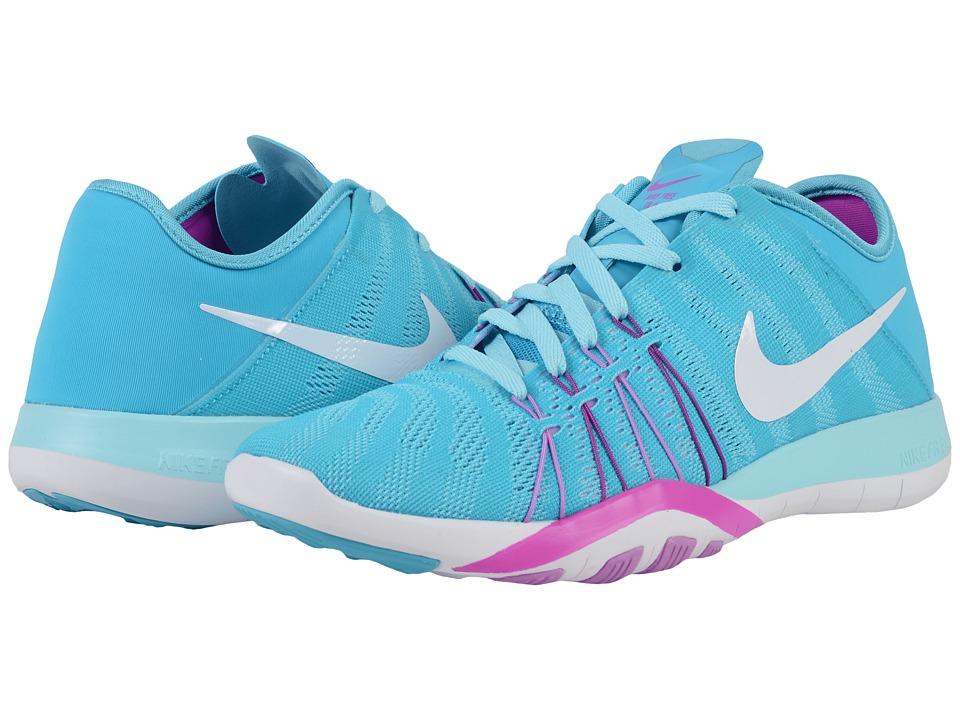Nike Free TR 6 (Gamma Blue/Hyper Violet/Fuchsia Glow/White) Women