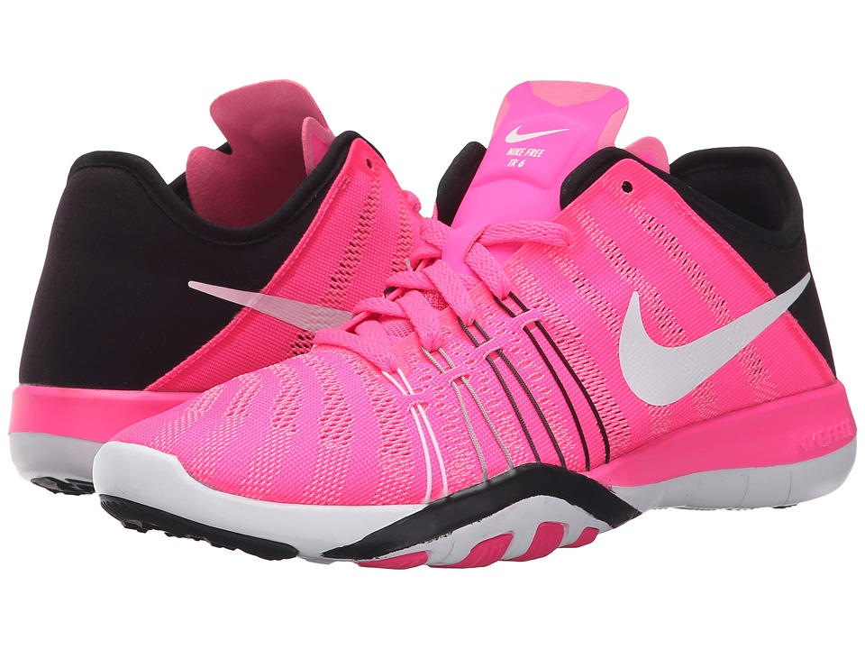 Nike - Free TR 6 (Pink Blast/White/Black) Women's Cross Training Shoes