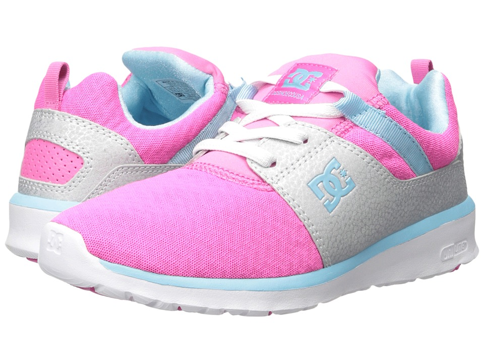 DC Kids - Heathrow (Big Kid) (Pink/Silver) Girls Shoes