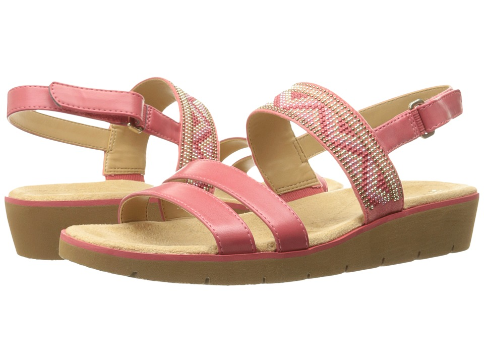 Naturalizer - Dynamic (Coral Smooth/Beads) Women's Sandals