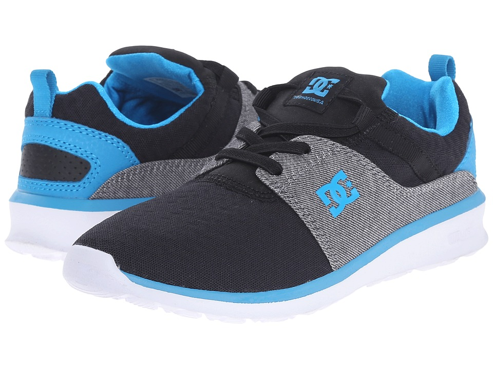 DC Kids - Heathrow TX SE (Little Kid) (Heather Grey/Black) Boys Shoes