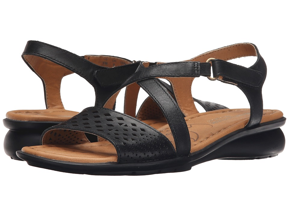 Naturalizer - Janessa (Black Leather) Women's Dress Sandals
