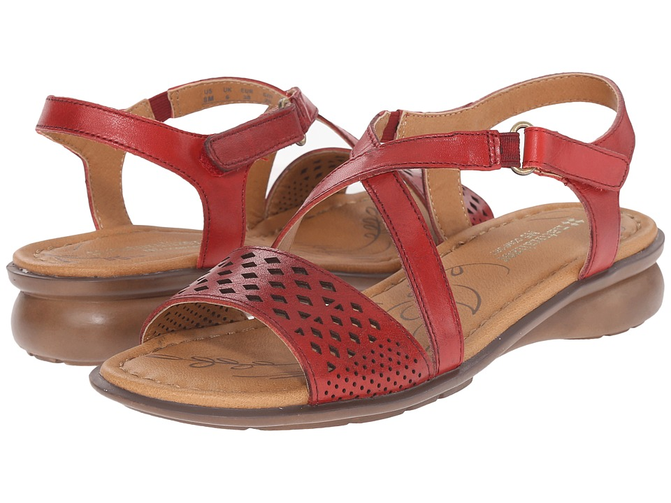 Naturalizer - Janessa (Red Pepper Leather) Women's Dress Sandals
