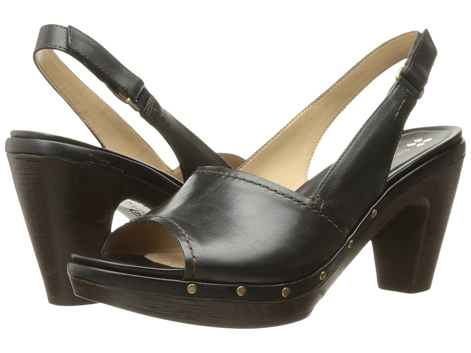 Naturalizer - Honey (Black Leather) Women's Dress Sandals
