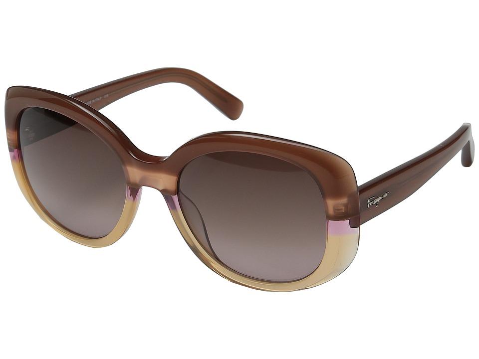 Salvatore Ferragamo - SF793S (Grey/Azure) Fashion Sunglasses