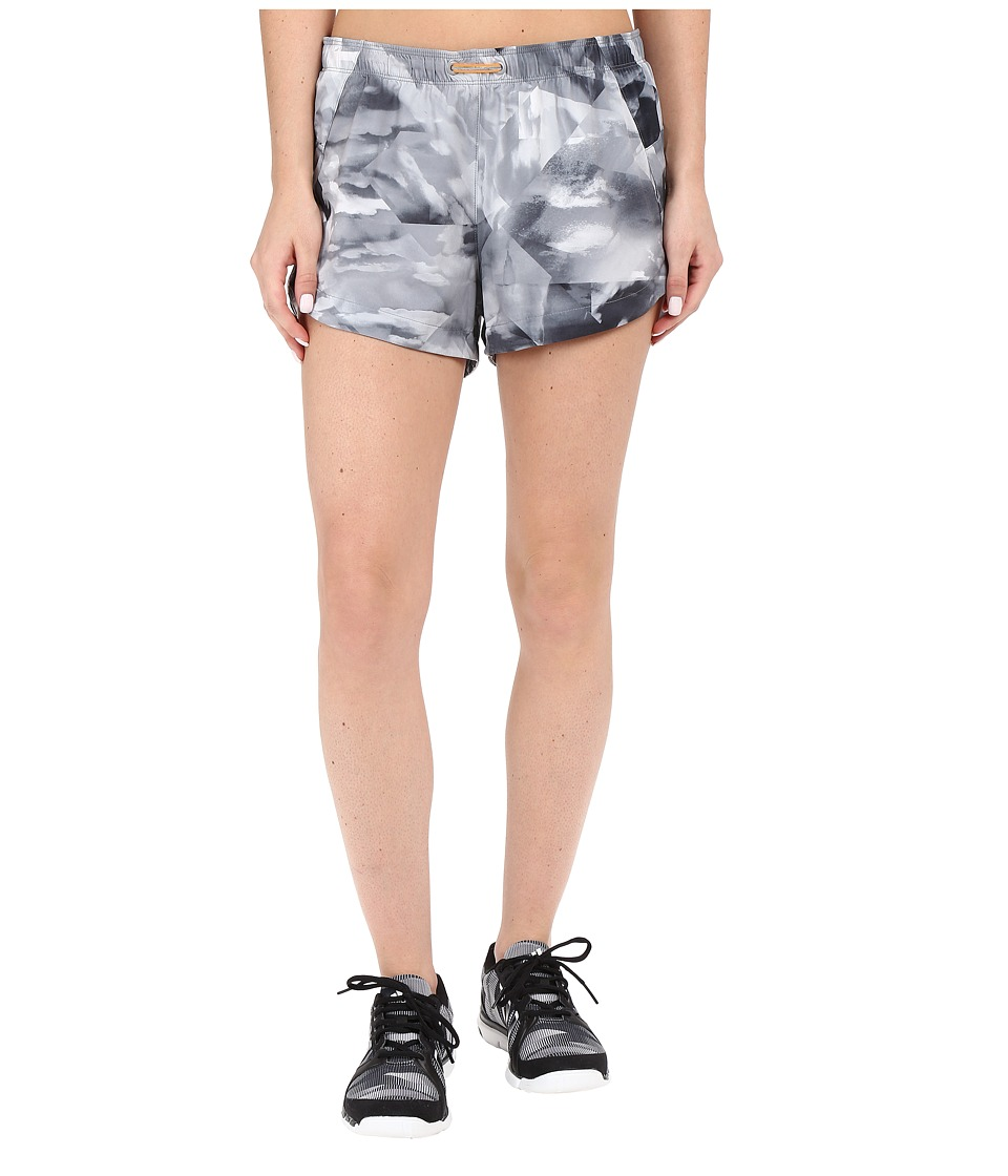Lucy - Revolution Run 3 Woven Shorts (Grey Kaleidoscope Print) Women's Shorts