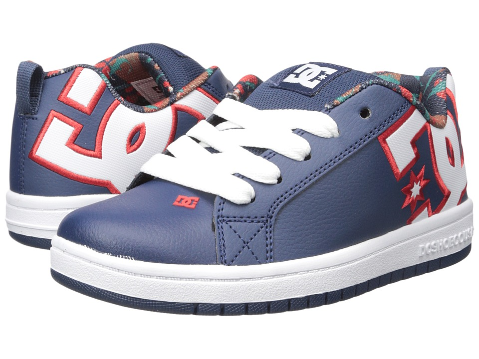 DC Kids - Court Graffik SE (Big Kid) (Navy) Boys Shoes