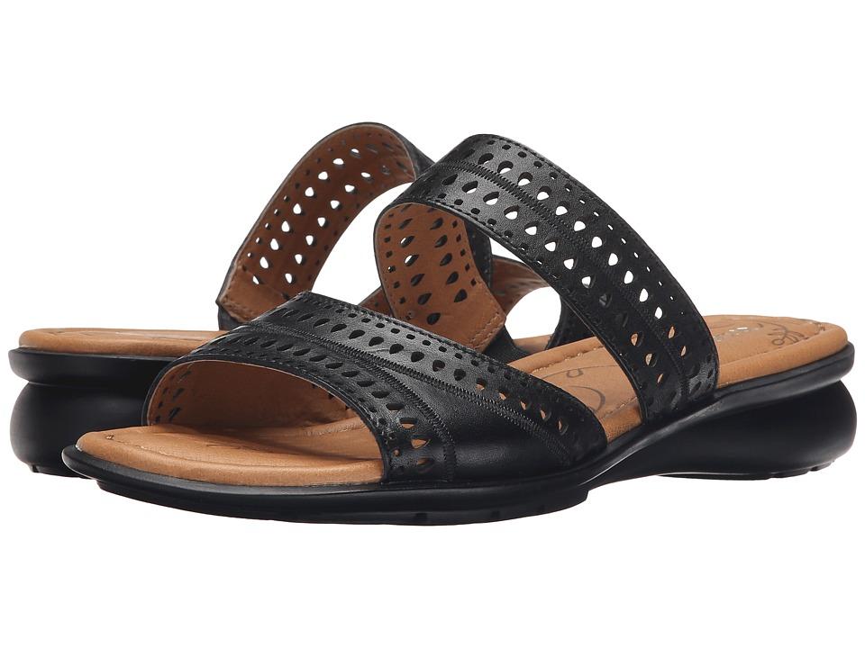 Naturalizer - Jenaya (Black Leather) Women's Flat Shoes