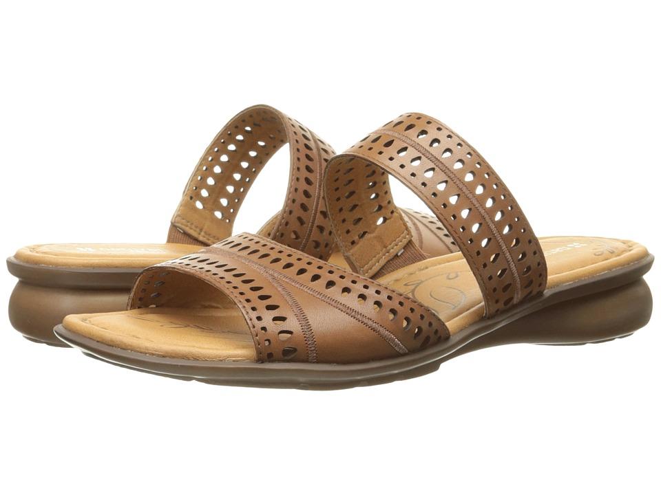 Naturalizer - Jenaya (Saddle Tan Leather) Women's Flat Shoes