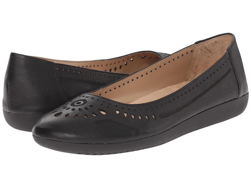 Naturalizer - Kana (Black Leather) Women's Flat Shoes