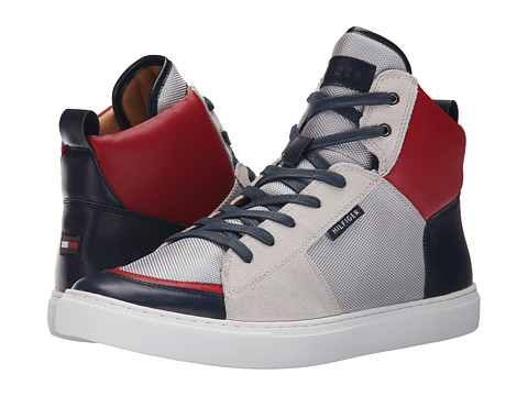 Tommy Hilfiger - Martins (White/Silver/Red) Men's Shoes