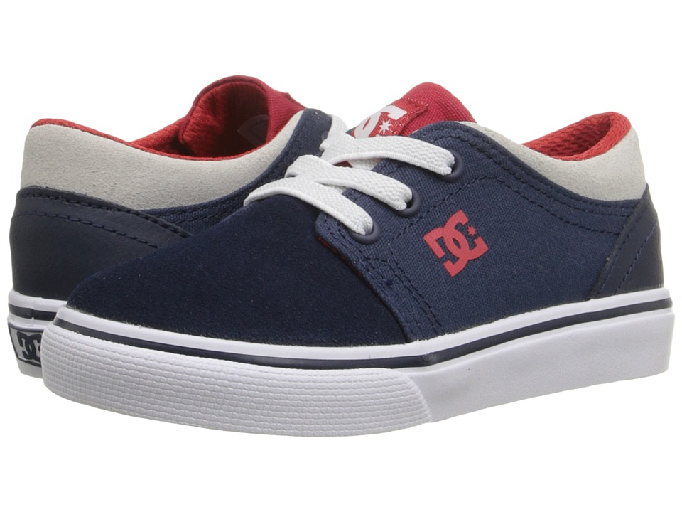DC Kids - Trase Slip (Toddler) (Navy/Red) Girls Shoes
