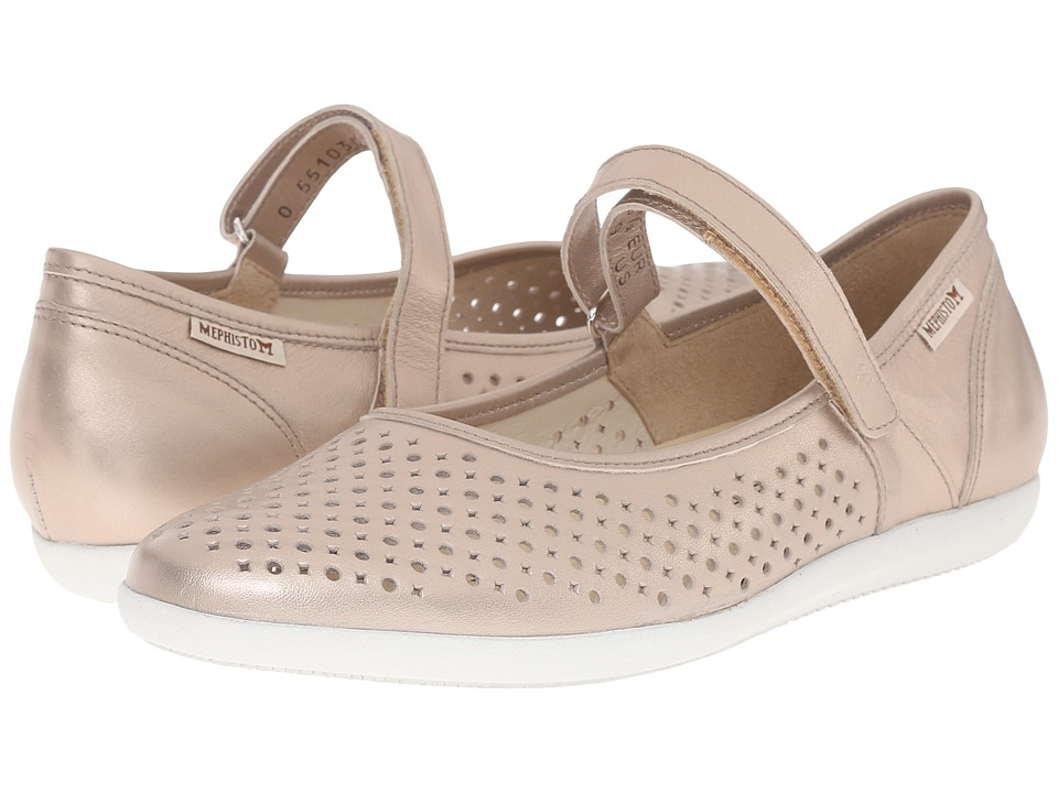 Mephisto - Krista Perf (Nude Perl Calfskin) Women's Shoes