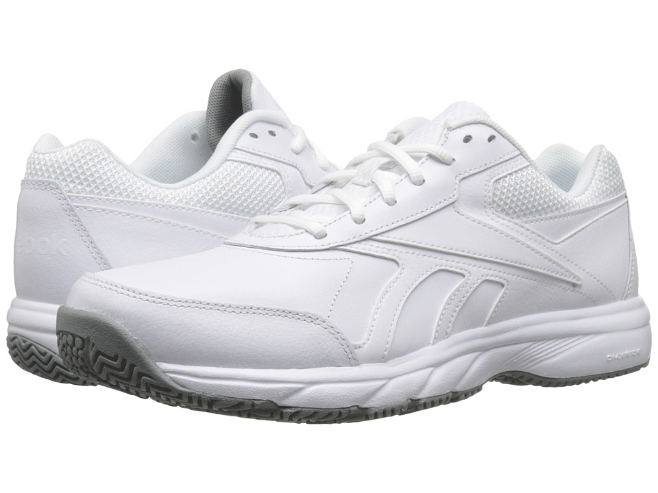 Reebok - Work N Cushion 2.0 (White/Flat Grey) Men's Shoes