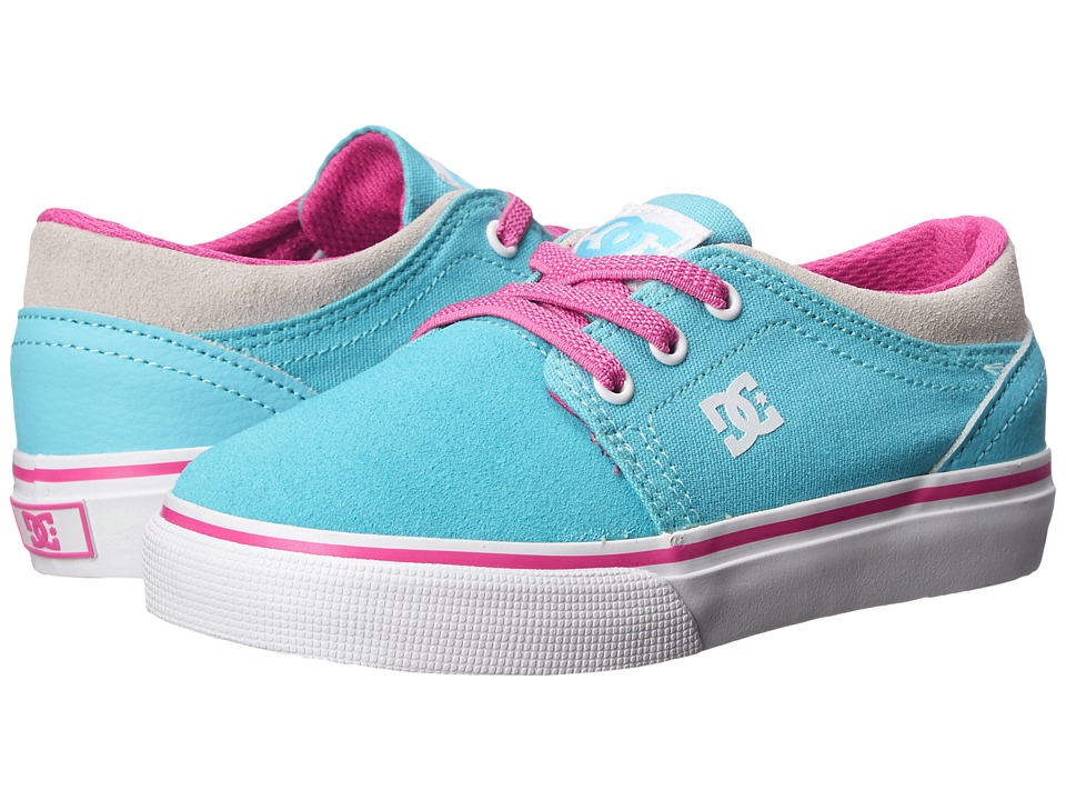 DC Kids - Trase Slip (Toddler) (Cyan/Magenta) Girls Shoes