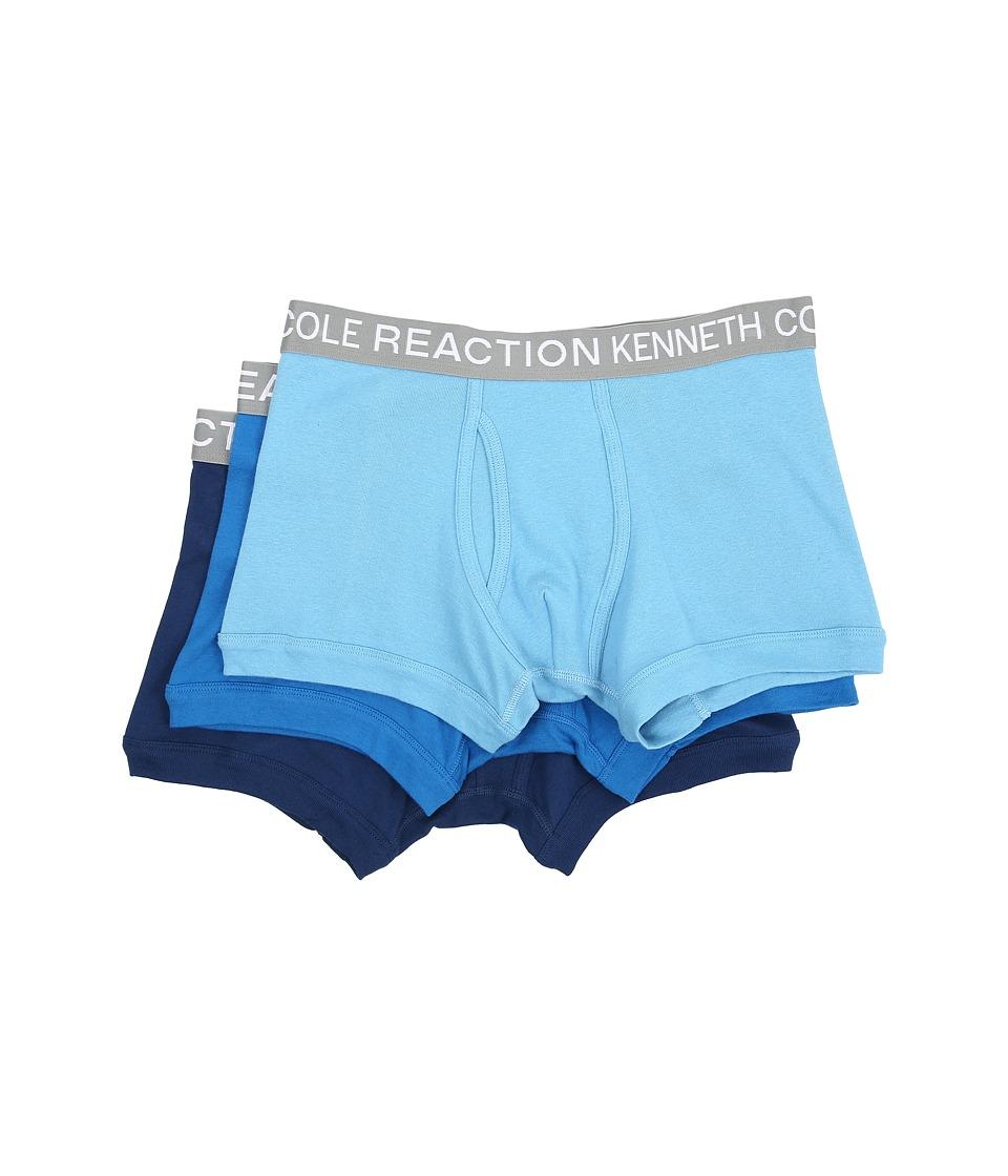 Kenneth Cole Reaction - 3-Pack Trunk (Powder Blue/Cobalt/Grey) Men's Underwear
