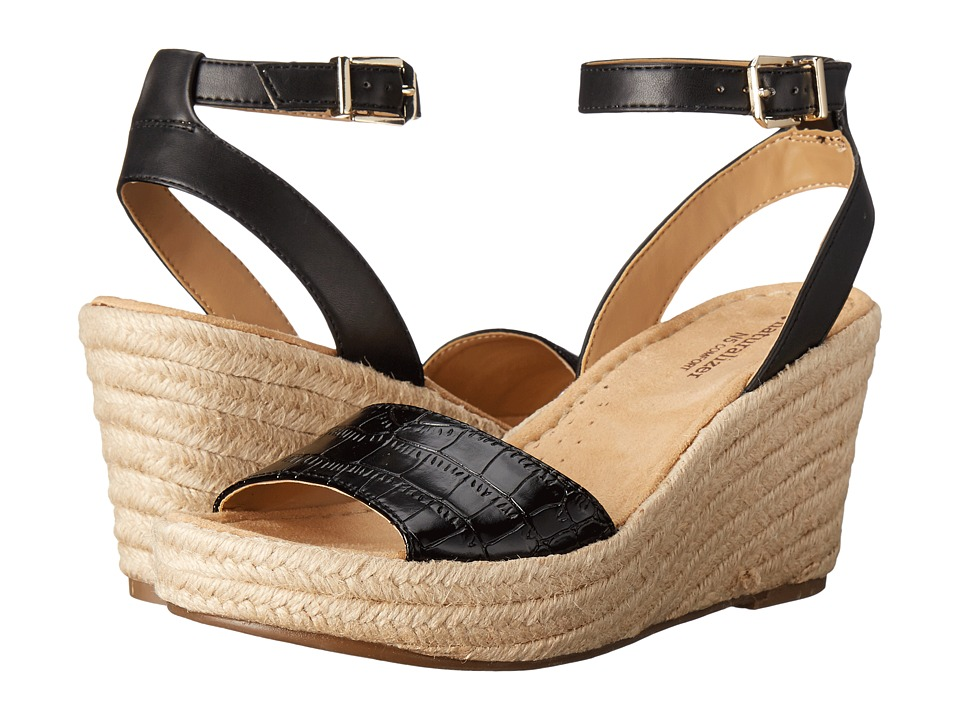 Naturalizer - Note (Black Printed Croco/Leather) Women's Wedge Shoes