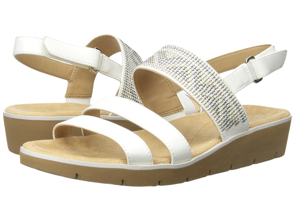 Naturalizer - Dynamic (White Smooth/Beads) Women's Sandals