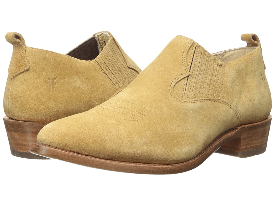Frye Billy Shootie Sand Oiled Suede Womens Slip on  Shoes