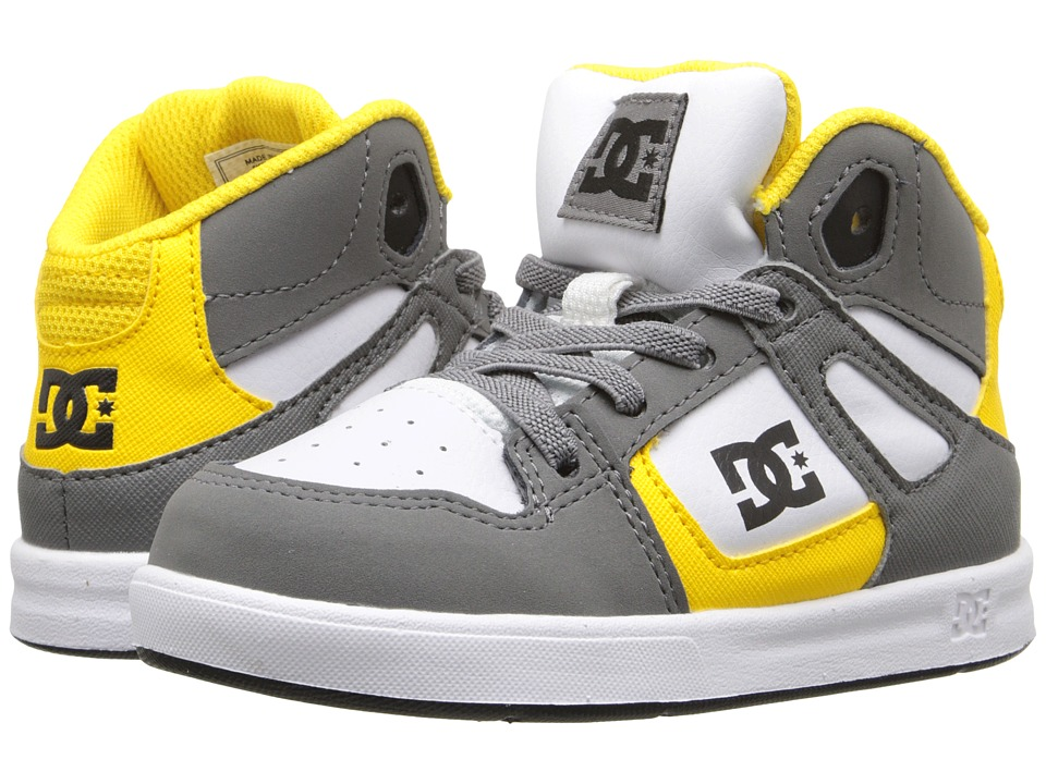 DC Kids - Rebound UL (Toddler) (Wild Dove/Yellow) Boys Shoes