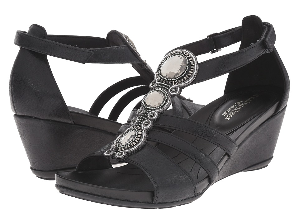 Naturalizer - Sonya (Black Smooth) Women's Shoes
