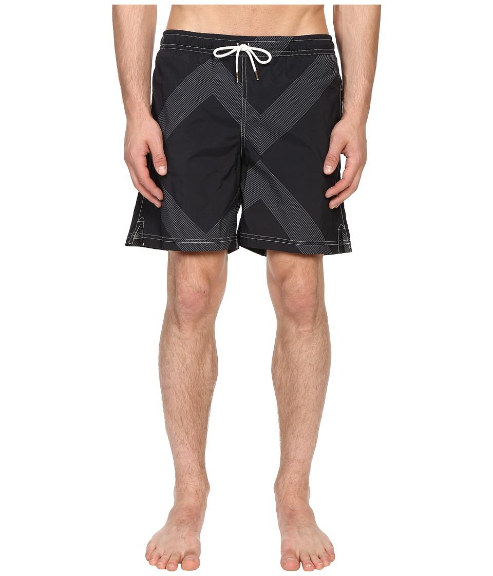 Billy Reid - Bay Swimshorts (Black/Grey) Men's Swimwear