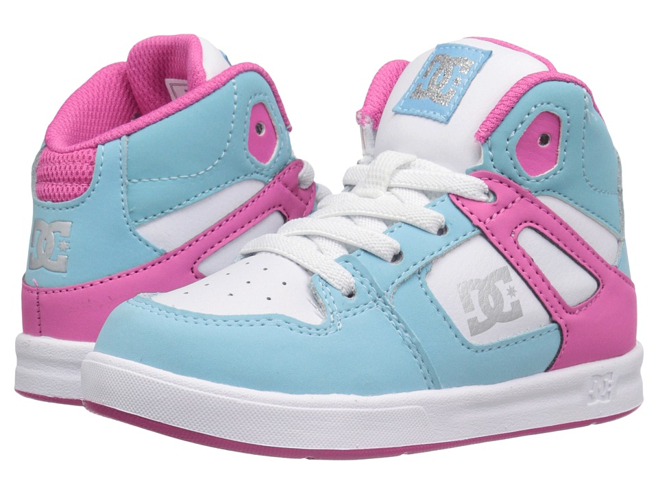 DC Kids - Rebound UL (Toddler) (Cyan/Magenta) Girls Shoes