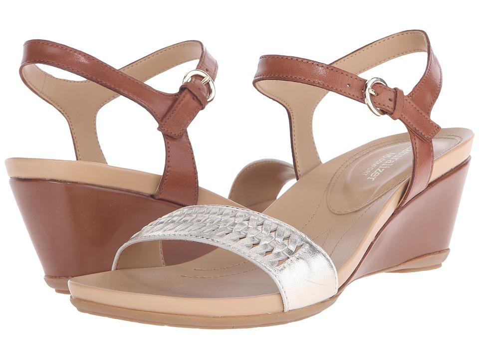 Naturalizer - Swiftly (Saddle Tan Leather/Platina Metallic) Women