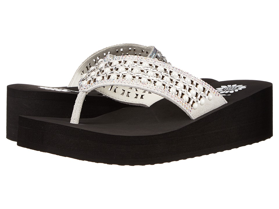 Yellow Box - Blanc (White/Black) Women's Sandals