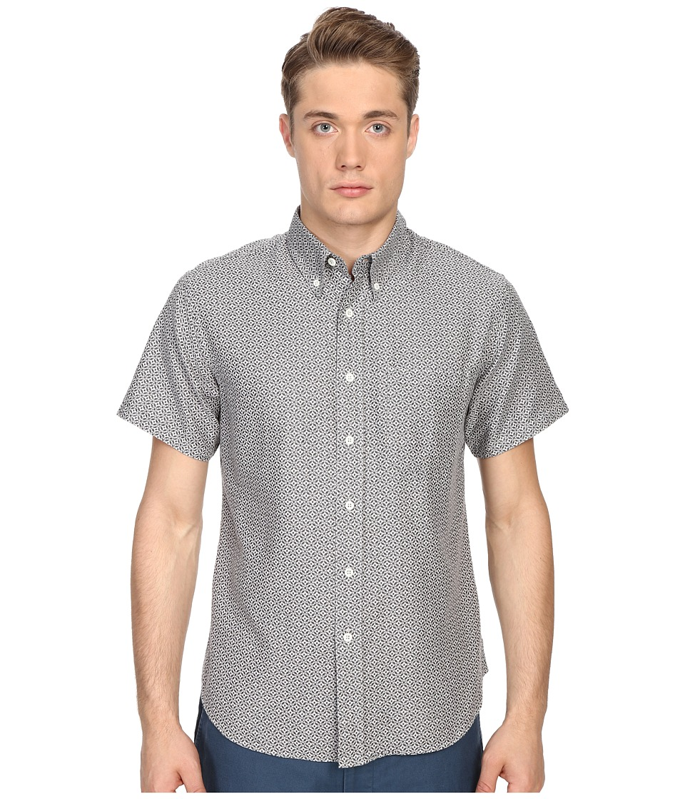 Billy Reid - Short Sleeve Tuscumbia Shirt (Grey) Men's Short Sleeve Button Up