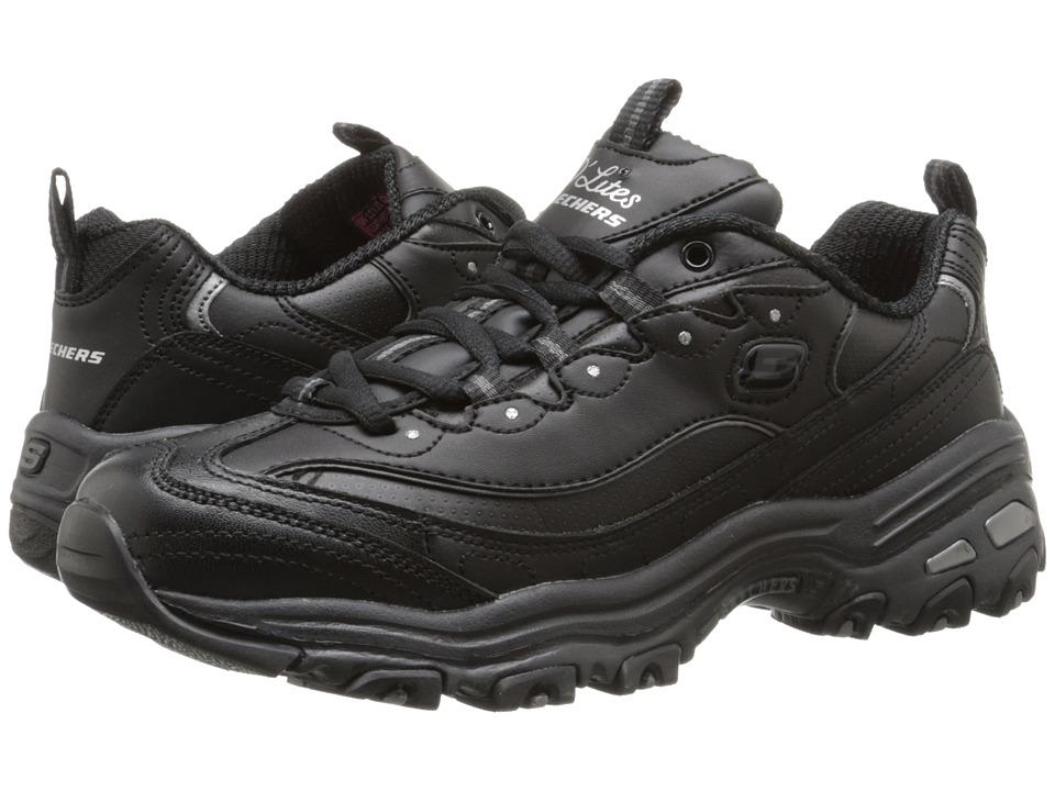 SKECHERS - D'Lites - Fresh Start (Black) Women's Lace up casual Shoes