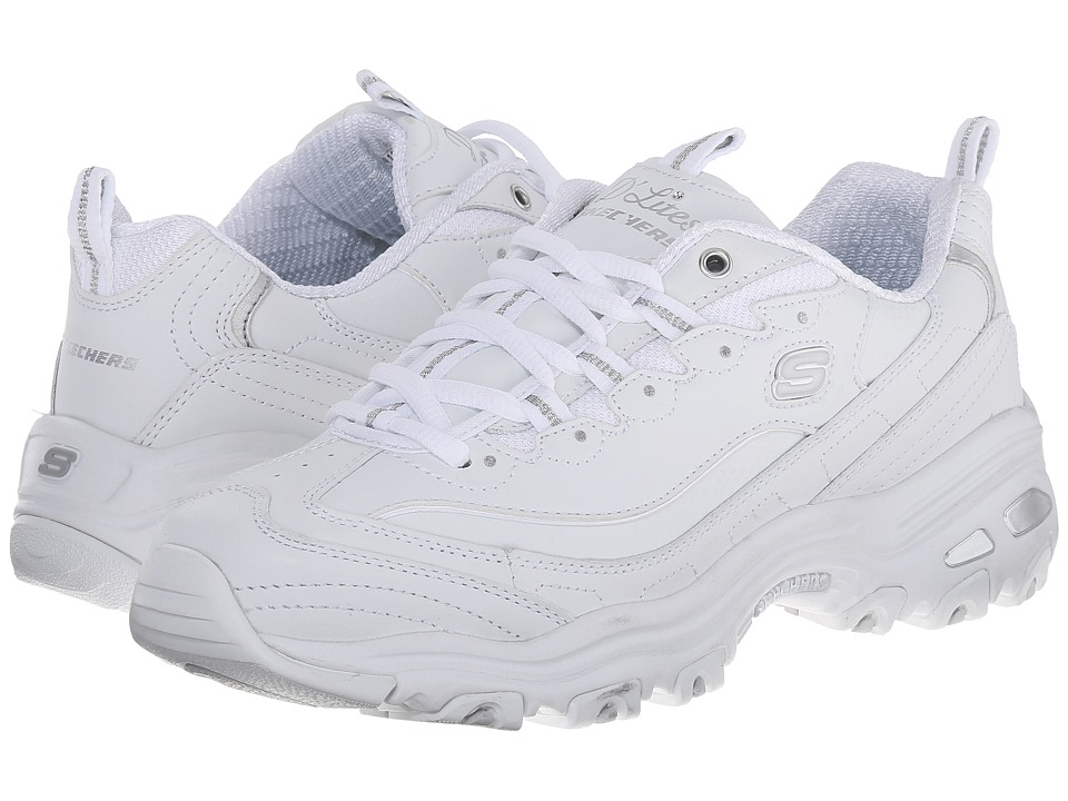 SKECHERS - D'Lites - Fresh Start (White) Women's Lace up casual Shoes