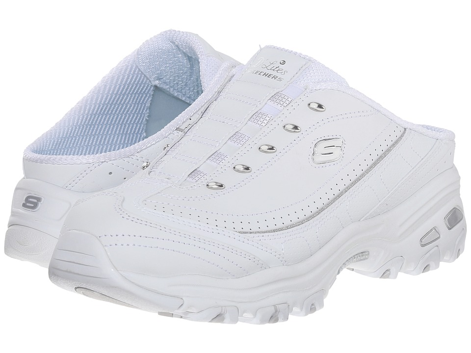 SKECHERS - D'Lites - Bright Sky (White) Women's Lace up casual Shoes