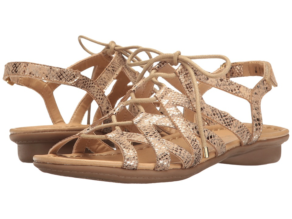 Naturalizer - Whimsy (Gold Metallic Printed Snake) Women's Dress Sandals