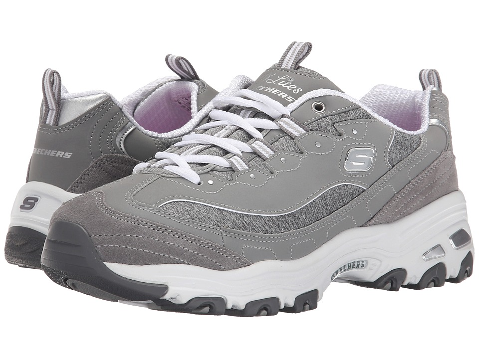 SKECHERS - D'Lites - Me Time (Gray) Women's Lace up casual Shoes