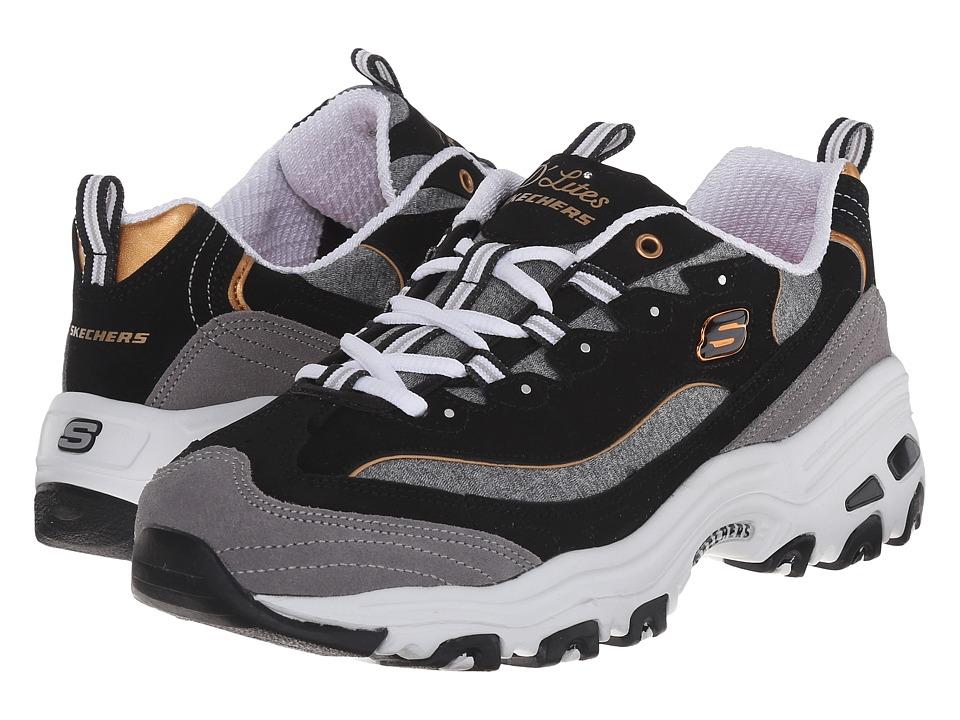 SKECHERS - D'Lites - Me Time (Black/White) Women's Lace up casual Shoes