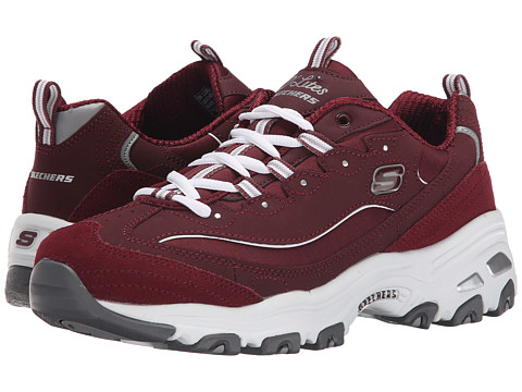 SKECHERS - D'Lites - Me Time (Burgundy) Women's Lace up casual Shoes