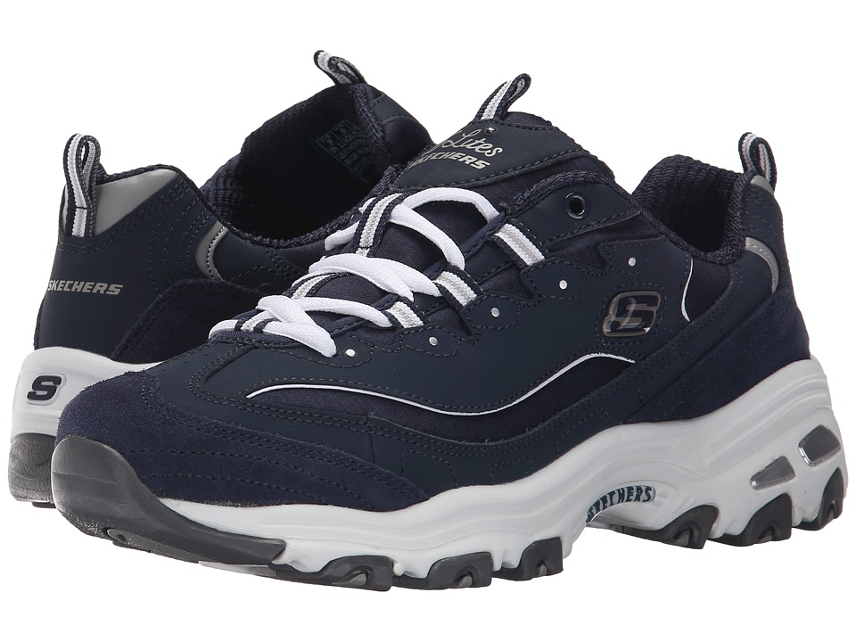 SKECHERS - D'Lites - Me Time (Navy) Women's Lace up casual Shoes
