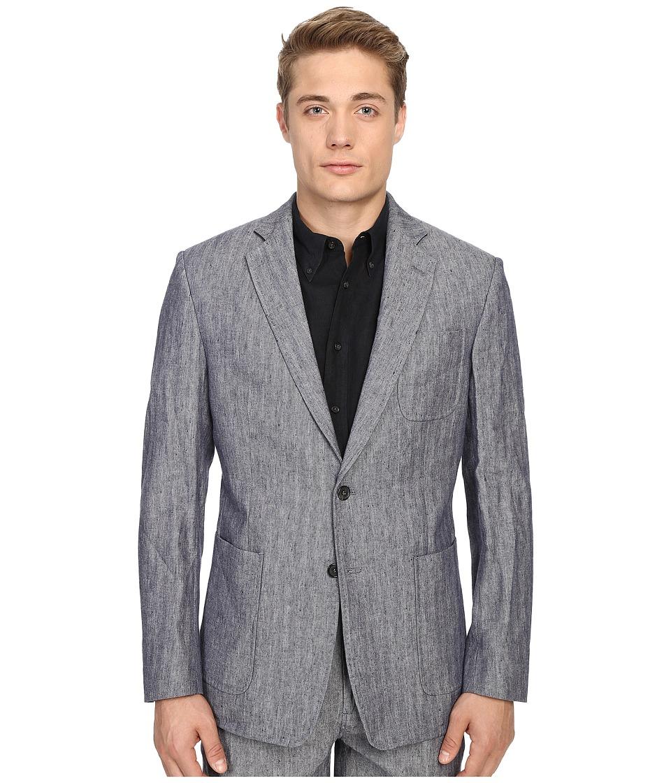Billy Reid - Rustin Jacket (Blue Gingham) Men's Jacket