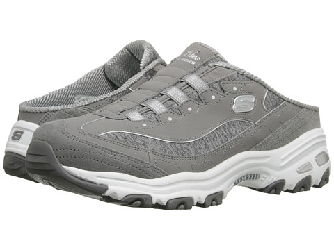 SKECHERS - D'Lites - Resilient (Gray) Women's Slip on Shoes
