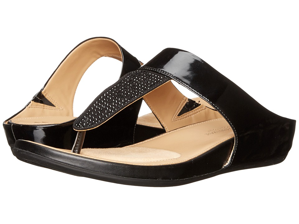 Naturalizer - Yippee (Black Shiny/Crystals) Women's Sandals