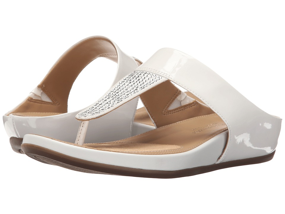 Naturalizer - Yippee (White Shiny/Crystals) Women's Sandals