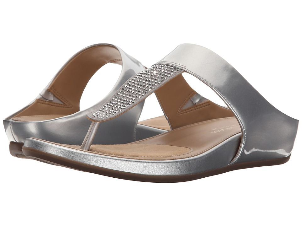 Naturalizer - Yippee (Silver Shiny/Crystals) Women's Sandals